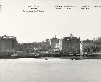 46b8b0410d Thames Riverscape showing East Lane Wharf