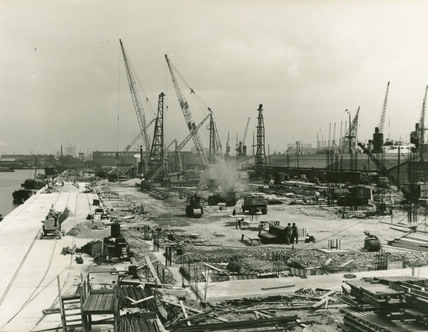 Reconstruction of the Rum Quay, West India Dock: 1951