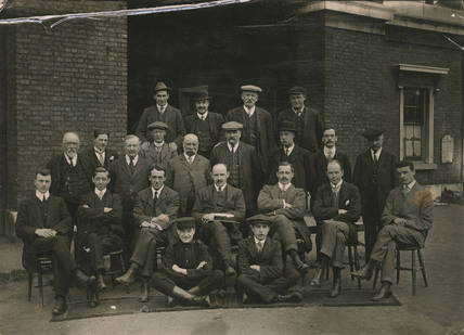 Engineers Office Staff. East and West India Docks: 1914