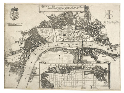 Map of fire damage to London:c.1670