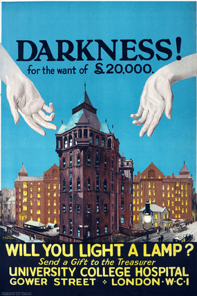 Will you light a lamp? University College Hospital: c.1922