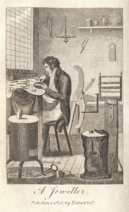 A jeweller from the book of trades; 1811