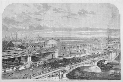 The London Chatham and Dover Railway Station at Blackfriars: 1863