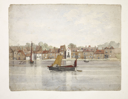 A watercolour of Wandsworth from The River Thames
