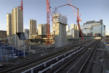 Docklands light railway from Cross Harbour Station; 2007