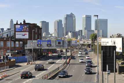 The Blackwall Tunnel approach; 2009