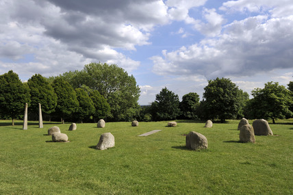 The stone stone circle at Hilly Filelds; 2009