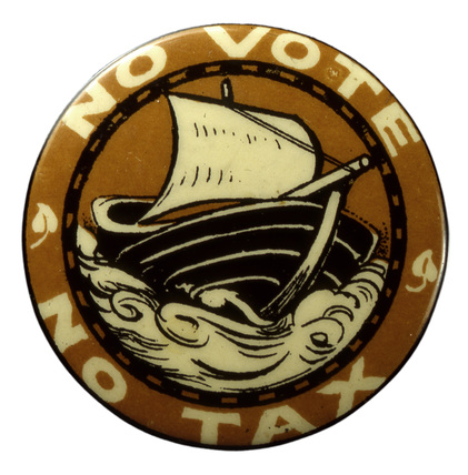 Tax Resistance League badge: c. 1909