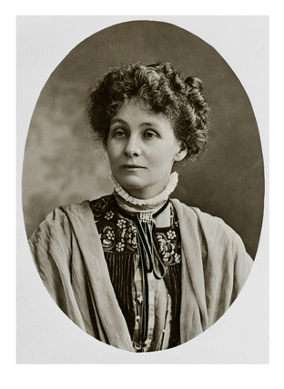 Photographic portrait of Emmeline Pankhurst: c.1909