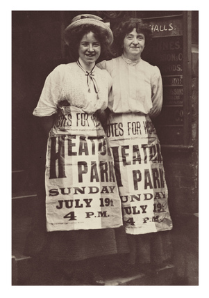 Two suffragettes, Mabel Capper and Patricia Woodlock: 1908