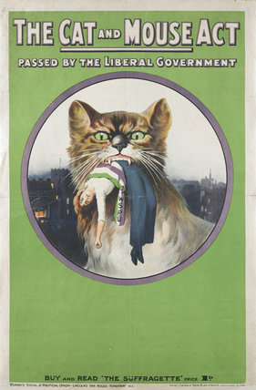 'The cat and mouse act passed by liberal government': 1914