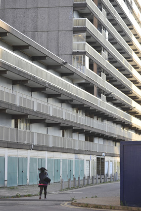 Housing estate in the Elephant and Castle; 2009