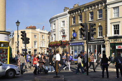 Shoppers in Greenwich; 2009