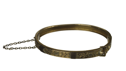 Gold bracelet belonging to the militant suffragette Edith How-Marty