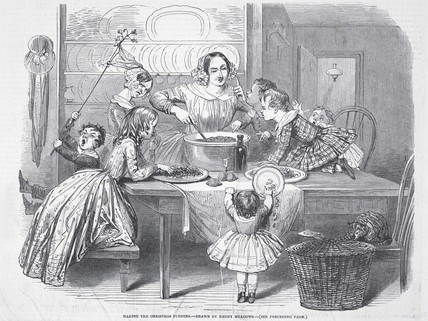 Making the Christmas Pudding: 1848