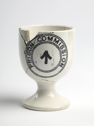 Egg cup removed from Holloway Gaol by a suffragette prisoner: c.1910