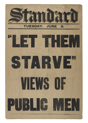 'Let them starve' billboard: c.1914