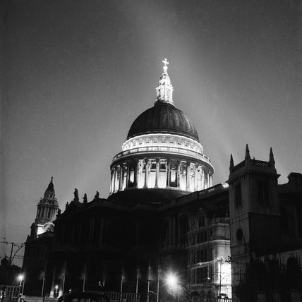St Paul's Cathedral by floodlight: 1951
