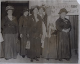 Group including Sylvia Pankhurst and Charlotte Despard (née French)