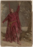 Sir Henry Irving as Mephistopheles in 'Faust'