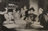 Suffragette committee meeting