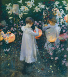 Carnation, Lily, Lily, Rose by John Singer Sargent. (Tate: Presented by the Trustees of the Chantrey Bequest 1887) Sargent: Portraits of Artists and Friends at the National Portrait Gallery, London,12 February - 25 May 2015