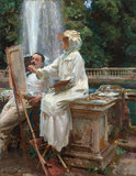The Fountain, Villa Torlonia, Frascati, Italy by John Singer Sargent (The Art Institute of Chicago. Friends of American Art Collection, 1914.57) Sargent: Portraits of Artists and Friends at the National Portrait Gallery, London,12 February - 25 May 2015