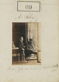 Camille Silvy with a boy