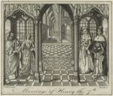 Four unknown sitters engraved as 'The Marriage of King Henry VII and Elizabeth of York'