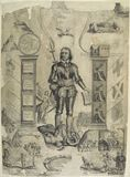 'Oliver Cromwell between Two Pillars'