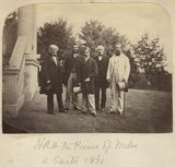 Sir Edmund W. Head, 8th Bt; Sir Christopher C. Teesdale; King Edward VII; Hon. Robert Bruce; Henry P. F. Pelham-Clinton, 5th Duke of Newcastle-under-Lyne