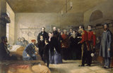 Queen Victoria's First Visit to her Wounded Soldiers