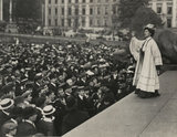Emmeline Pankhurst addressing a crowd in Trafalgar Square