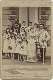 Prince and Princess Henry of Battenberg with their bridesmaids and others on their wedding day