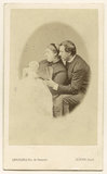 Princess Mary Adelaide, Duchess of Teck and Prince Francis, Duke of Teck with one of their children