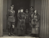 Queen Mary and Princess Mary, Countess of Harewood inspecting Wellington Barracks married quarters