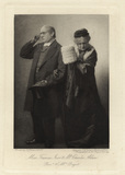 Charles Allan as Rev. Thomas Bagot; Frances Ivor as Mrs Bagot in 'Trilby'