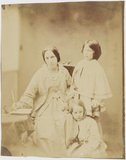 Julia Margaret Cameron with her two children, Henry Herschel Hay and Charlie Hay