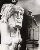 Jacob Epstein with 'Behold The Man'
