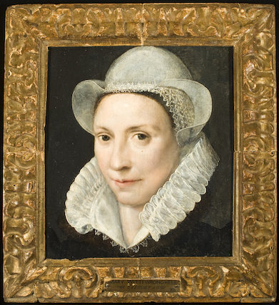 Mary Wittewronghele, by an unknown Anglo-Netherlandish artist, c.1580s (Lawes Agricultural Trust) in connection with 'Elizabeth I & Her People', 10 October 2013 - 5 January 2014