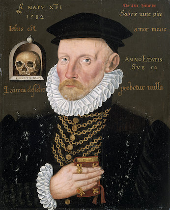 Gawen Goodman of Ruthin, by an unknown British artist, 1582 (National Museum of Wales, Cardiff) in connection with 'Elizabeth I & Her People', 10 October 2013 - 5 January 2014
