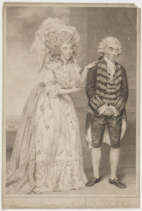 Elizabeth (née Farren), Countess of Derby; Thomas King as Lady Emily and Sir Clement in Burgoyne's 'The Heiress'