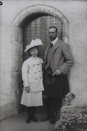 Princess Mary, Countess of Harewood; King George V
