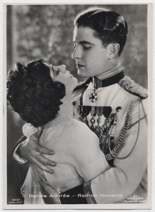 Renée Adorée and Ramon Novarro in 'Forbidden Hours'
