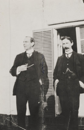 Bertrand Arthur William Russell, 3rd Earl Russell and an unknown man