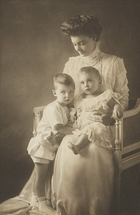 Prince Wilhelm of Prussia; Cecile, German Crown Princess and Crown Princess of Prussia; Prince Louis Ferdinand of Prussia