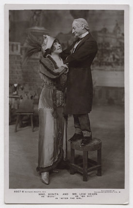 Bonita (Pauline Des Landes) as Bijou and Lew Hearn as Mr Pitt in 'After the Girl'