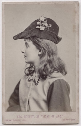 Clara Marion Jessie Rousby (née Dowse) as Joan in 'Joan of Arc'