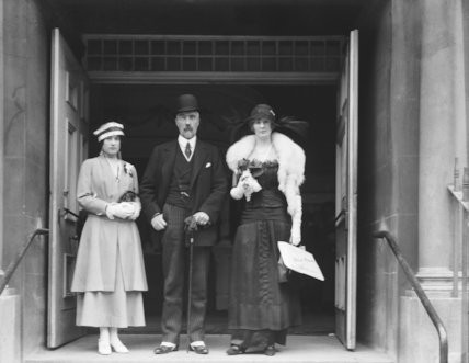 Sophia Nicholaievna, Countess de Torby; Mary Howe (née Curzon), Countess Howe; Michael Alexandrovich, Grand Duke of Russia