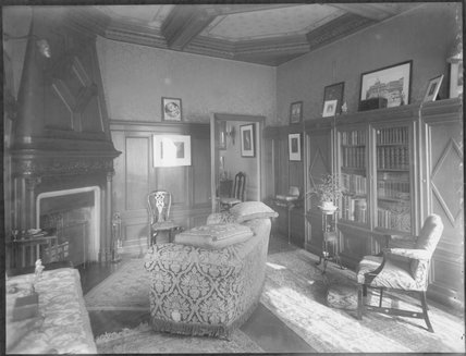 The Oak Room and Library in Grace Lowrey (née Woodruff), Lady Ashfield's home
